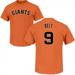 Men's Brandon Belt San Francisco Giants Roster Name & Number T-Shirt - Orange
