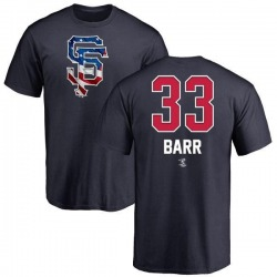 Men's Jim Barr San Francisco Giants Name and Number Banner Wave T-Shirt - Navy