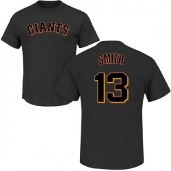 Men's Will Smith San Francisco Giants Roster Name & Number T-Shirt - Black
