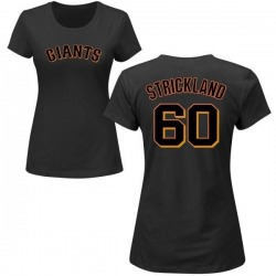 Women's Hunter Strickland San Francisco Giants Roster Name & Number T-Shirt - Black