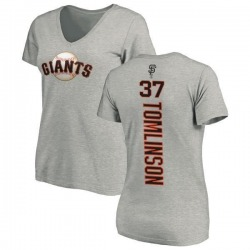 Women's Kelby Tomlinson San Francisco Giants Backer Slim Fit T-Shirt - Ash
