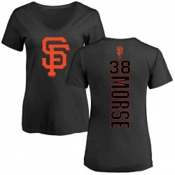 Women's Michael Morse San Francisco Giants Backer Slim Fit T-Shirt - Black