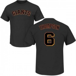 Youth Robby Thompson San Francisco Giants Roster Name & Number T-Shirt - Black